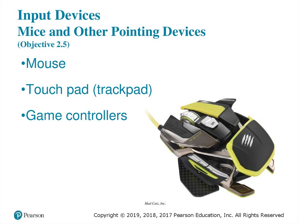 Input Devices Mice and Other Pointing Devices (Objective 2.5)