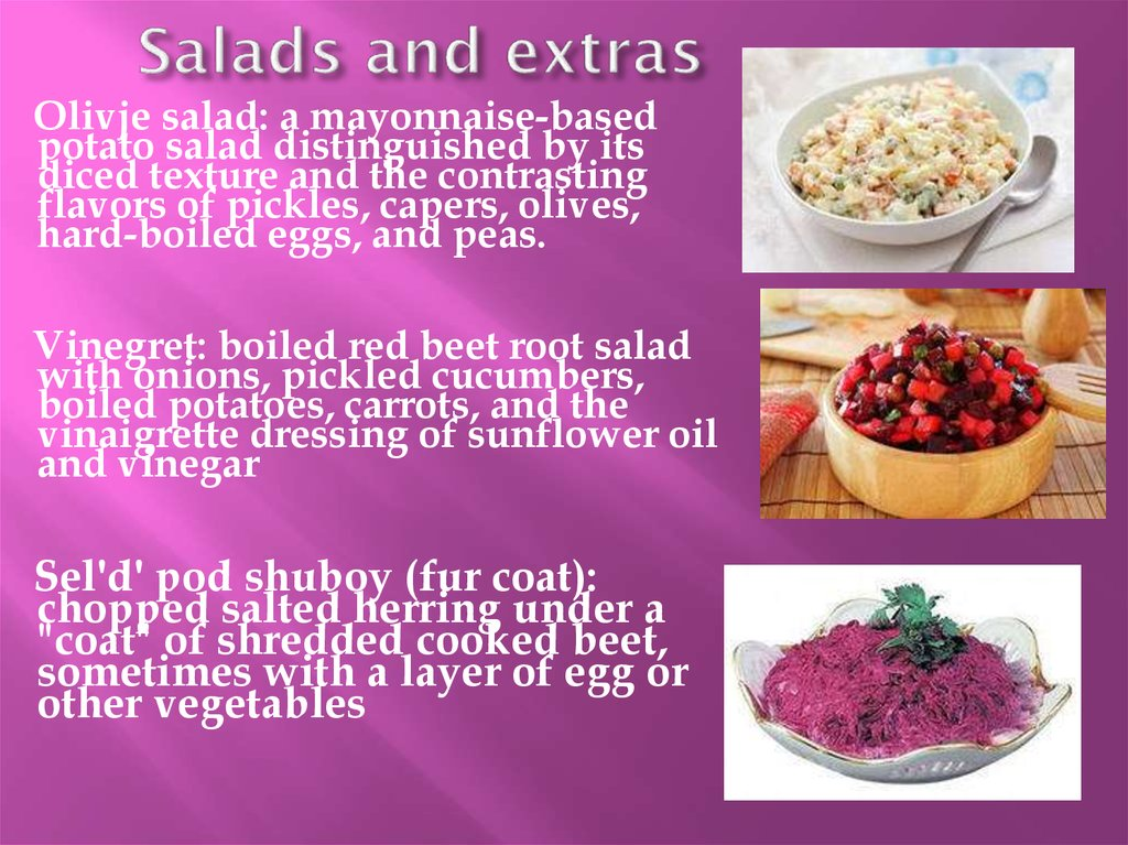Salads and extras