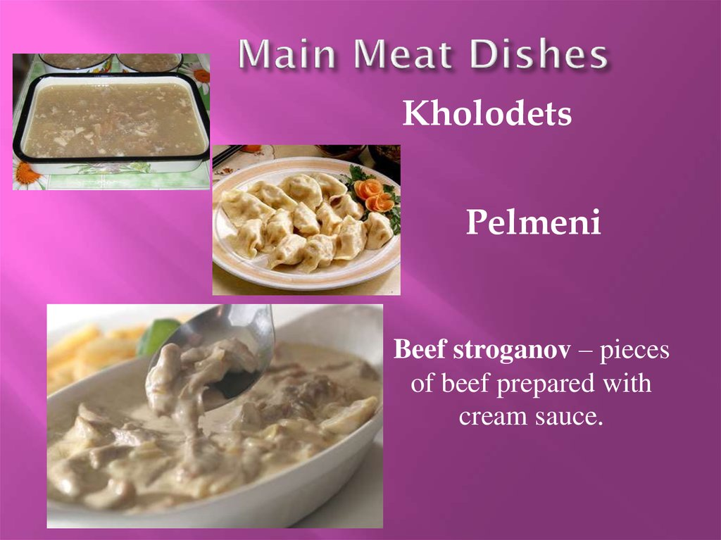 Main Meat Dishes