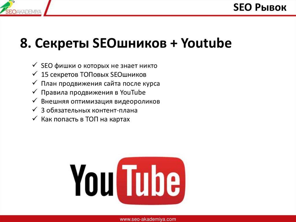 SEO Рывок. Как продвинуть свой сайт в топ-3 Google и ...