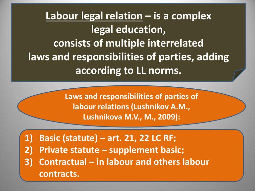 legal relation