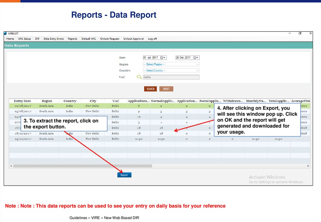 Reports - Data Report