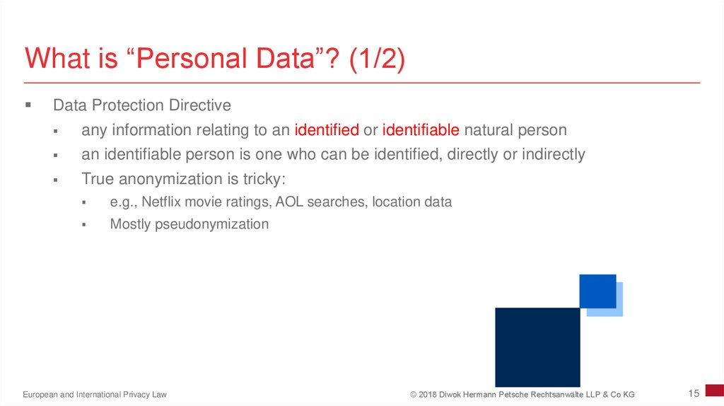 "What is ""Personal Data""? (1/2)"
