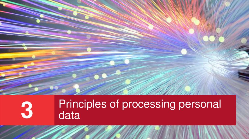 Principles of processing personal data