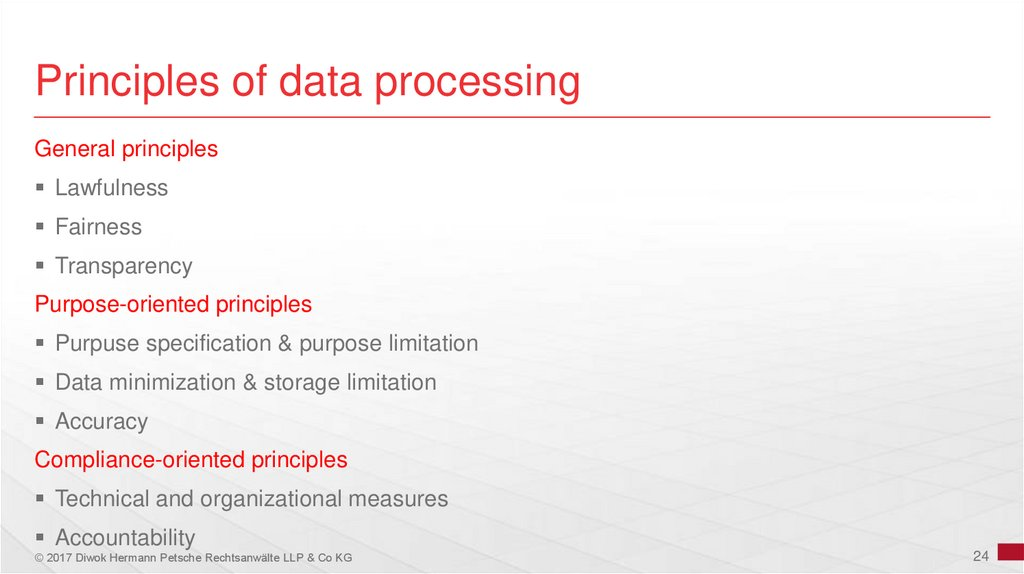 Principles of data processing