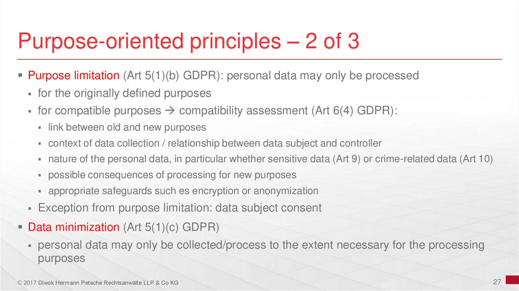 Purpose-oriented principles – 2 of 3