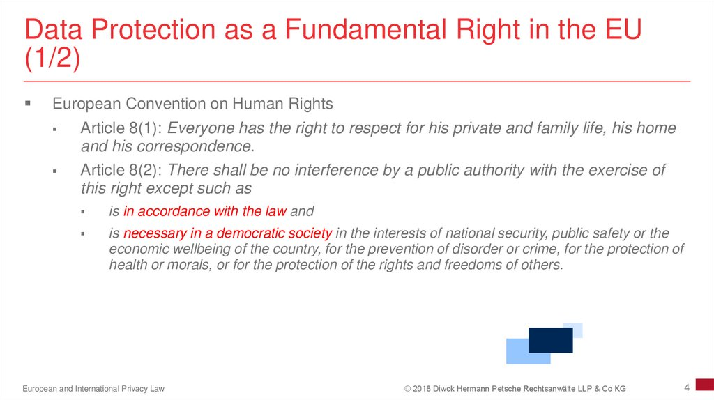 Data Protection as a Fundamental Right in the EU (1/2)