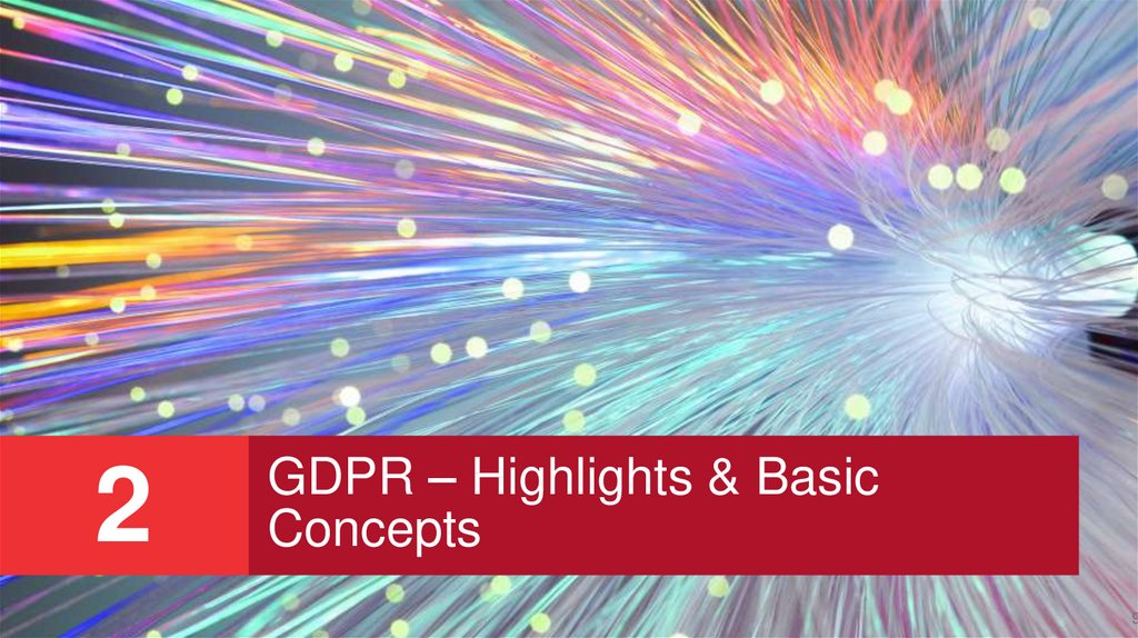 GDPR – Highlights & Basic Concepts