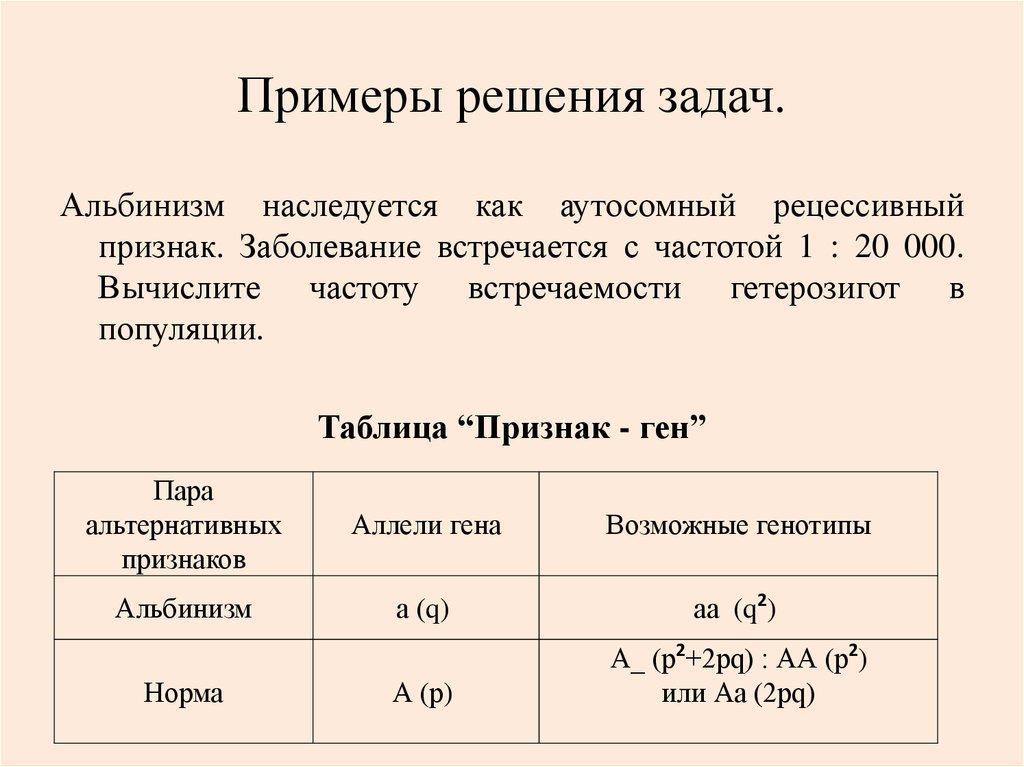 Задачи с решениями на закон харди вайнберга определенная сумма примеры решения задач