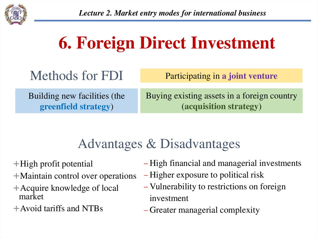 Foreign direct investment advantages and disadvantages ppt slides assim forex peace