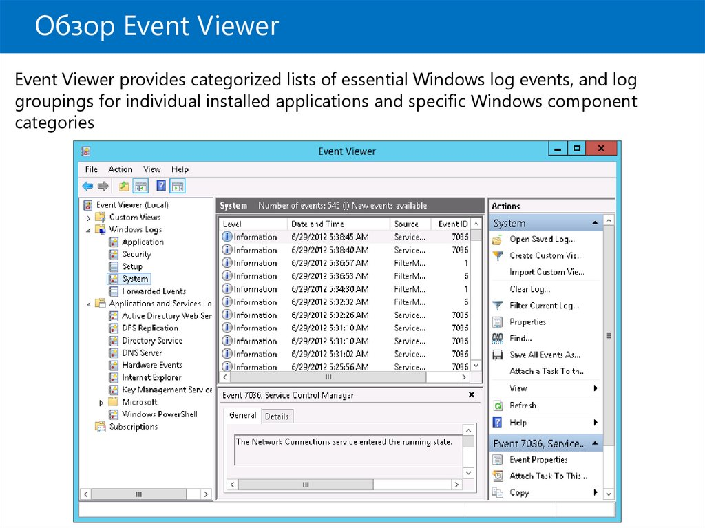 Обзор Event Viewer
