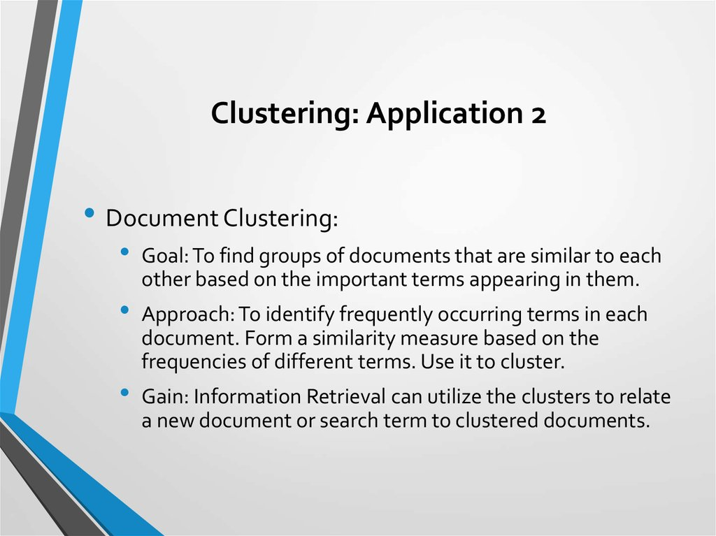 Clustering: Application 2
