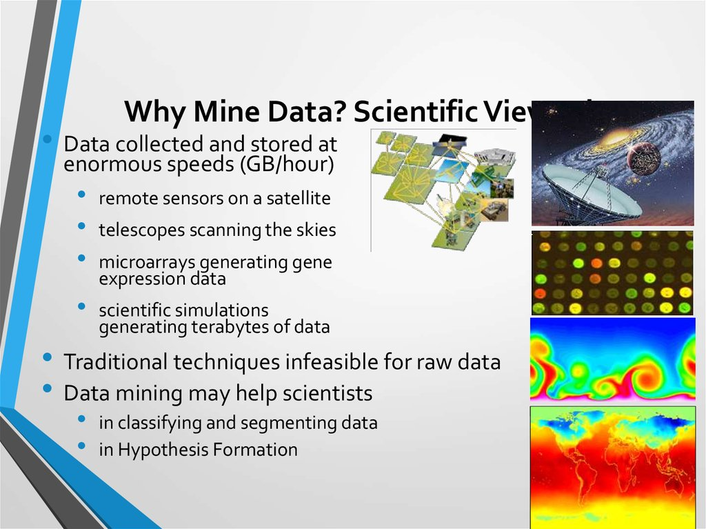 Why Mine Data? Scientific Viewpoint
