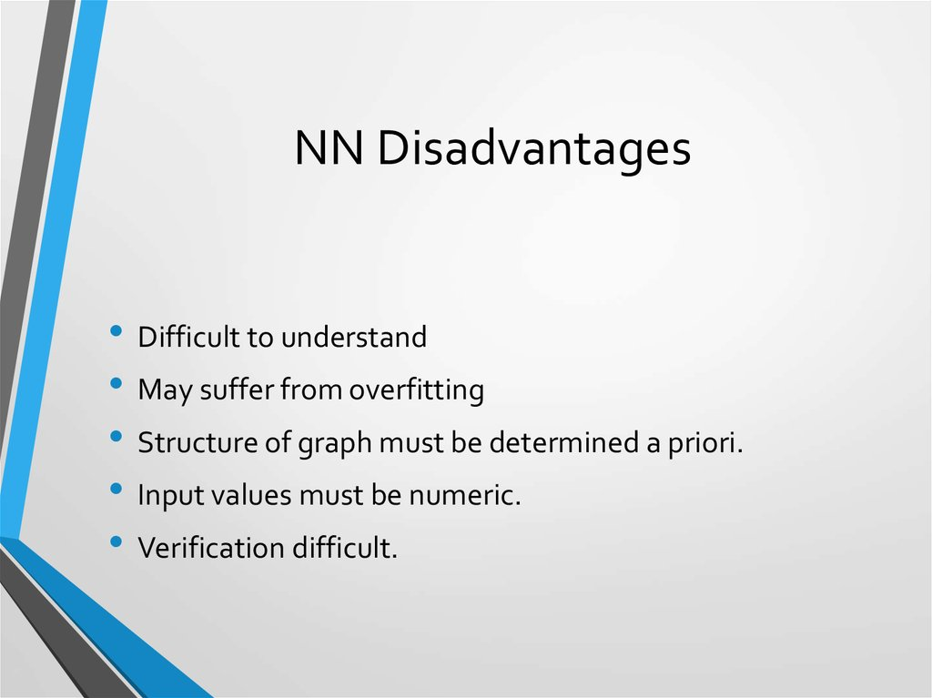 NN Disadvantages