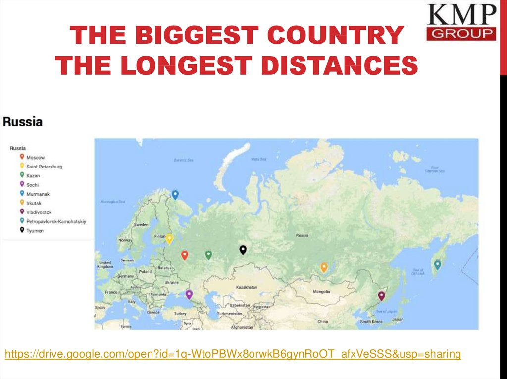 THE BIGGEST COUNTRY THE LONGEST DISTANCES