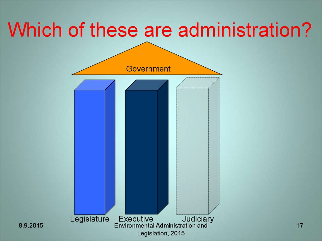 Which of these are administration?