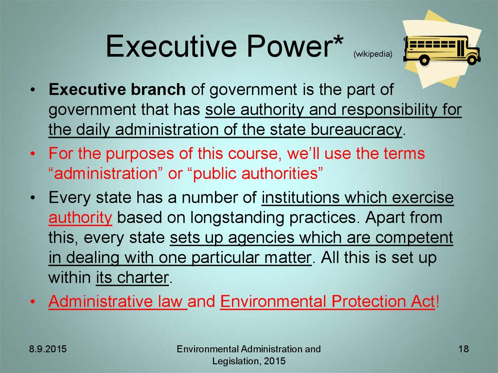 Executive Power* (wikipedia)