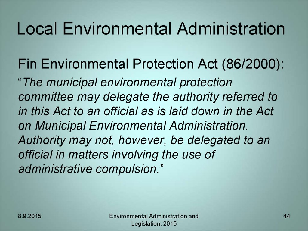 Local Environmental Administration