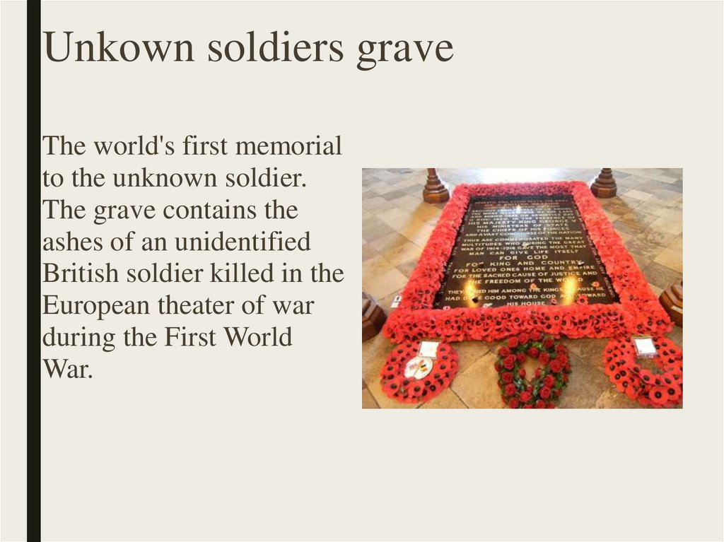 Unkown soldiers grave
