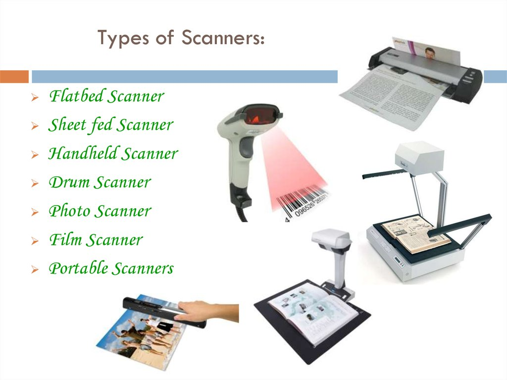 Types of Scanners: