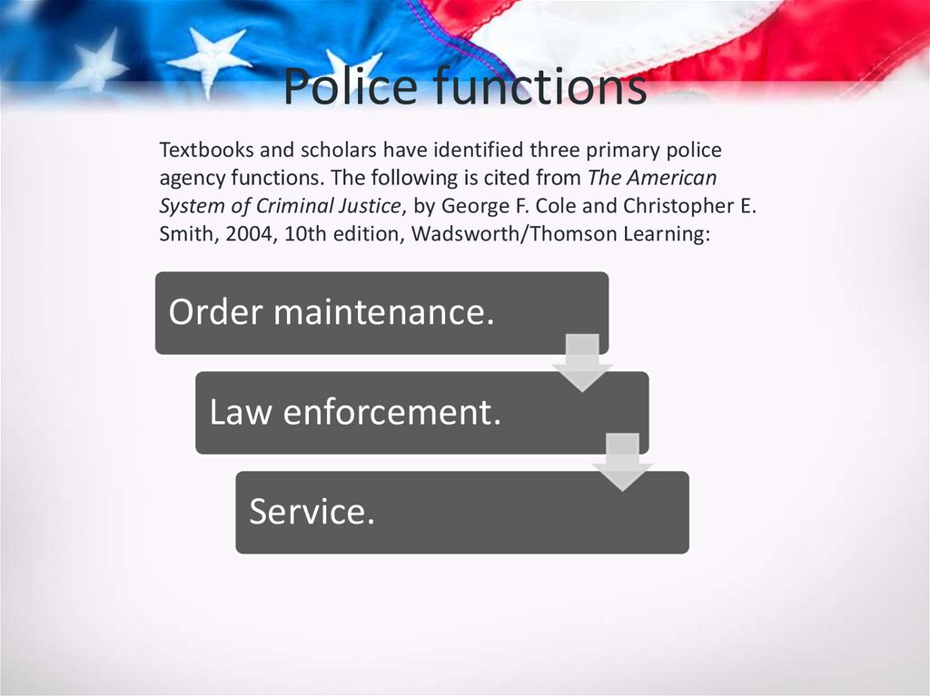 Police functions