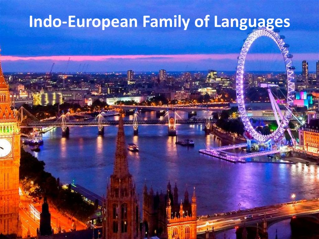 Indo-European Family of Languages