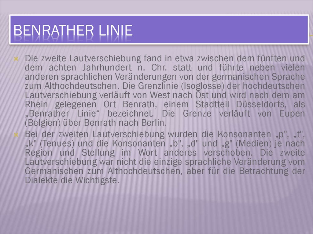 Benrather Linie