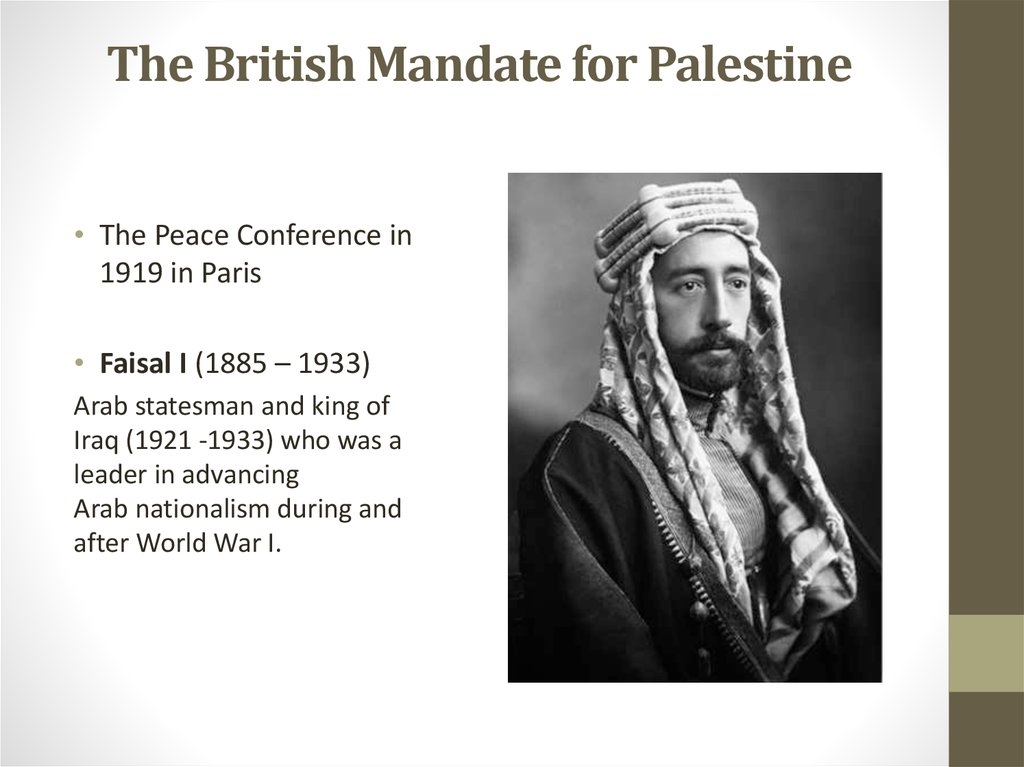 The British Mandate for Palestine