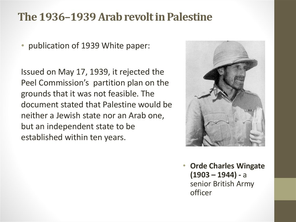 The 1936–1939 Arab revolt in Palestine