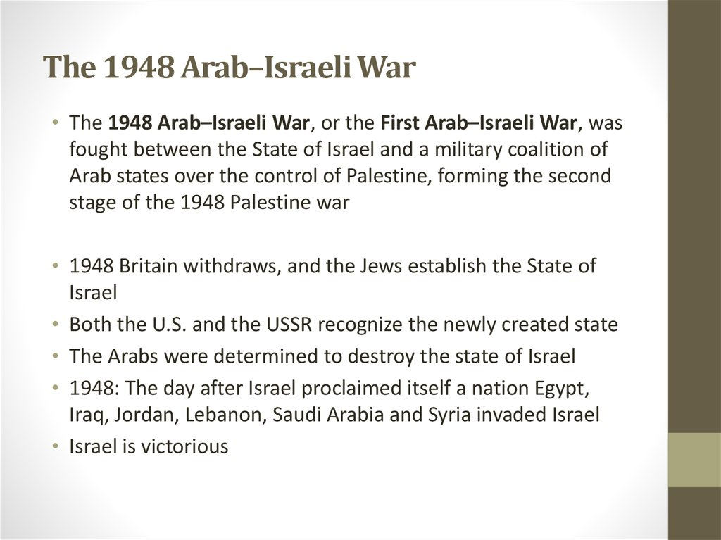 The 1948 Arab–Israeli War