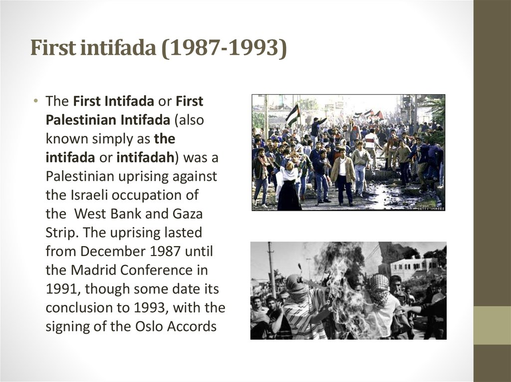 First intifada (1987-1993)