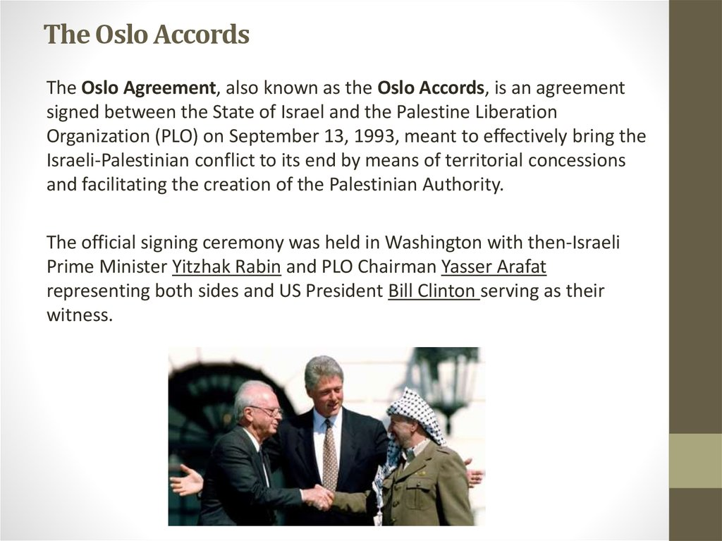 The Oslo Accords
