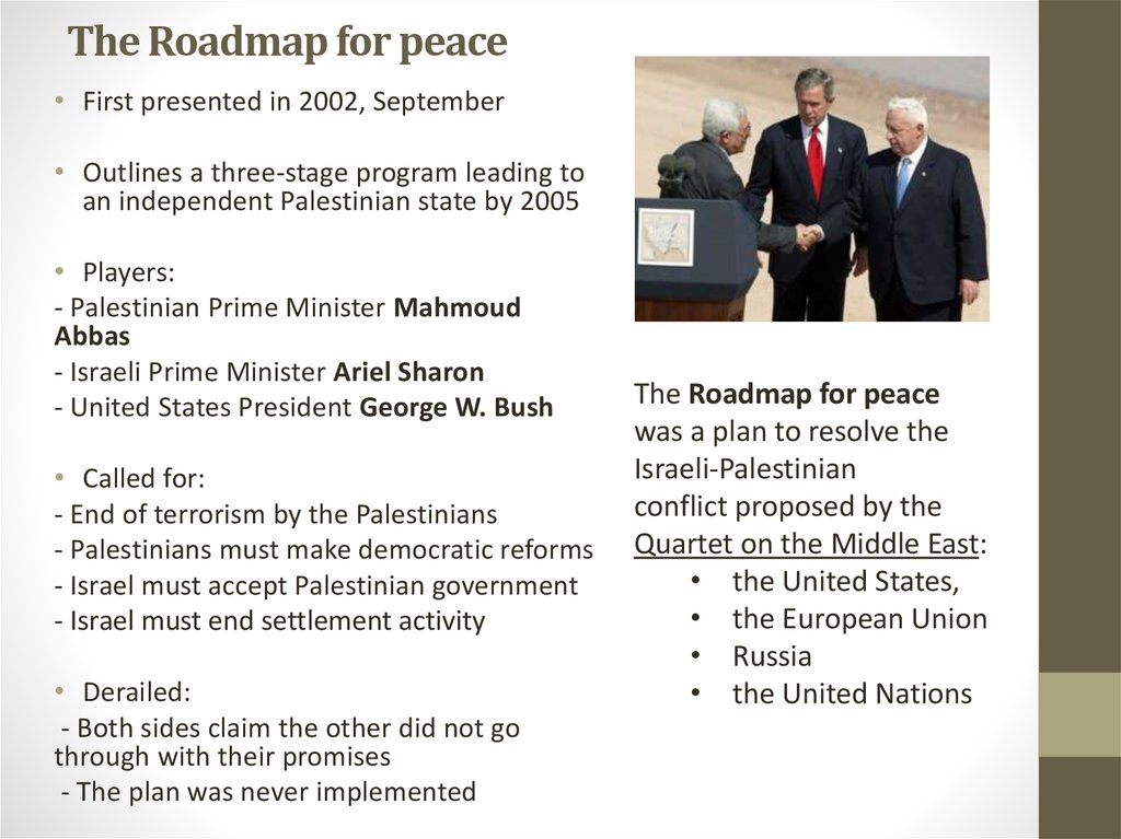 The Roadmap for peace