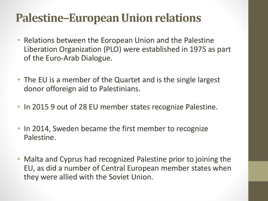 Palestine–European Union relations