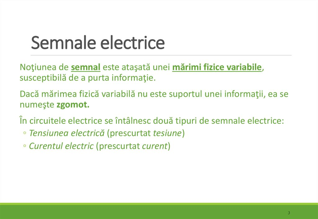 Semnale electrice