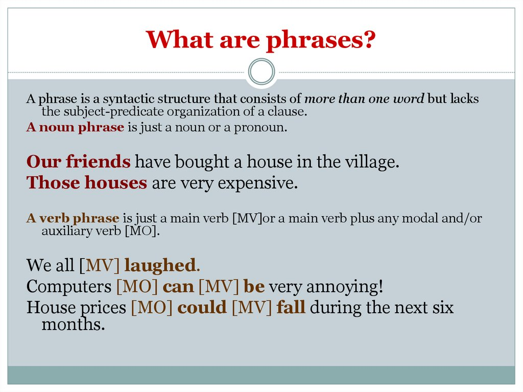 What are phrases?