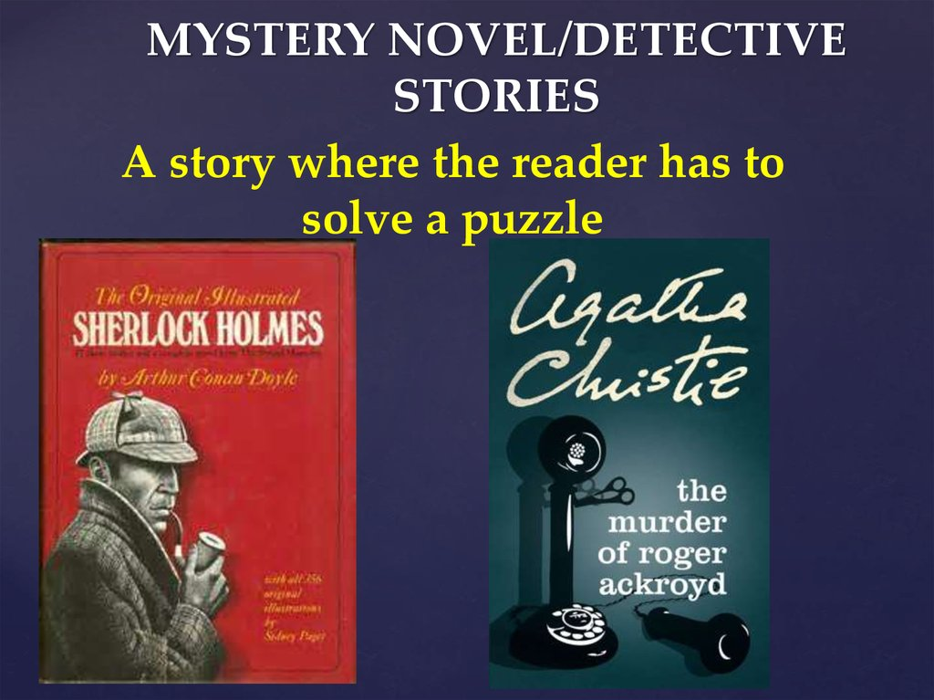MYSTERY NOVEL/DETECTIVE STORIES
