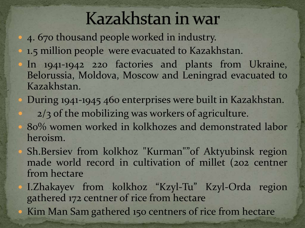 Kazakhstan in war