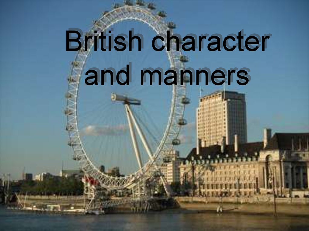 British character and manners