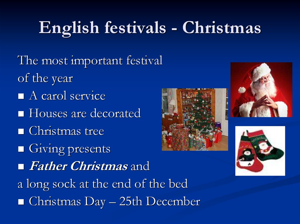 English festivals - Christmas