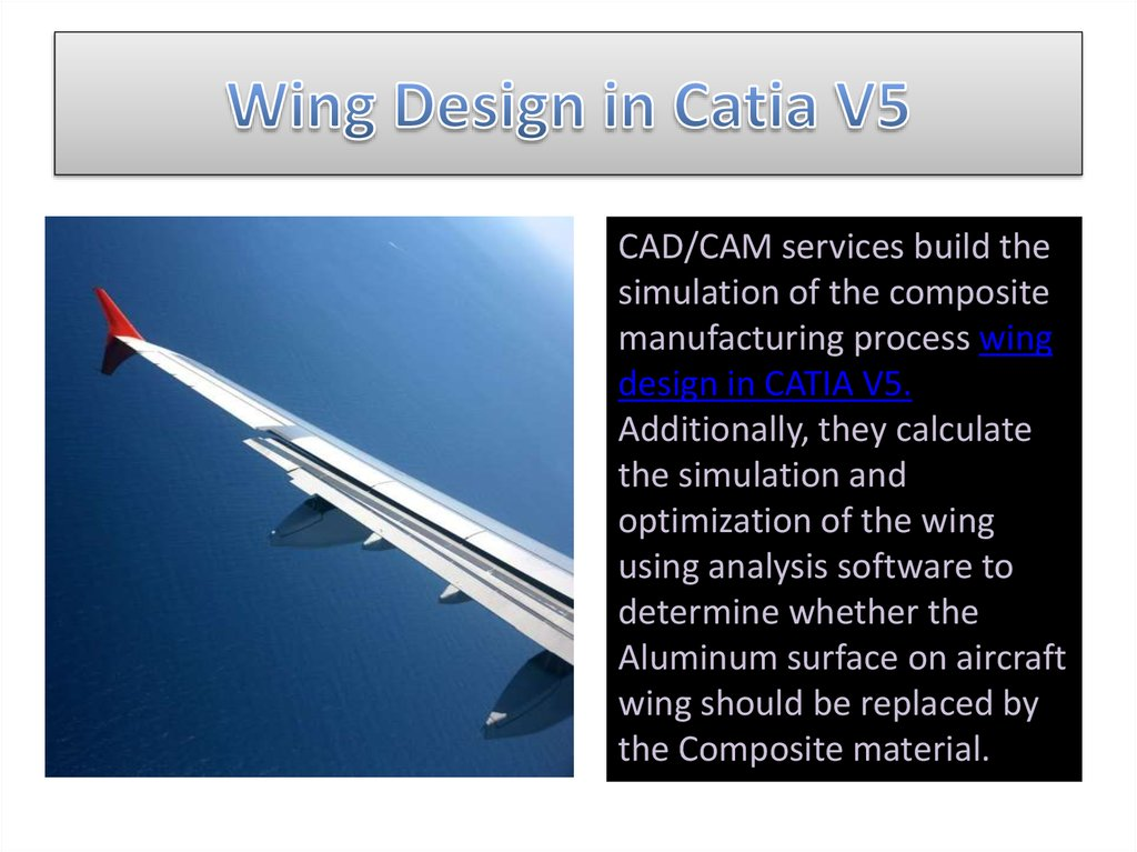 Wing Design in Catia V5
