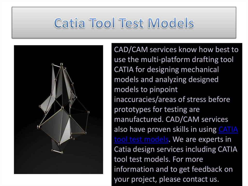 Catia Tool Test Models