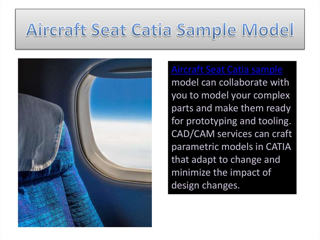 Aircraft Seat Catia Sample Model