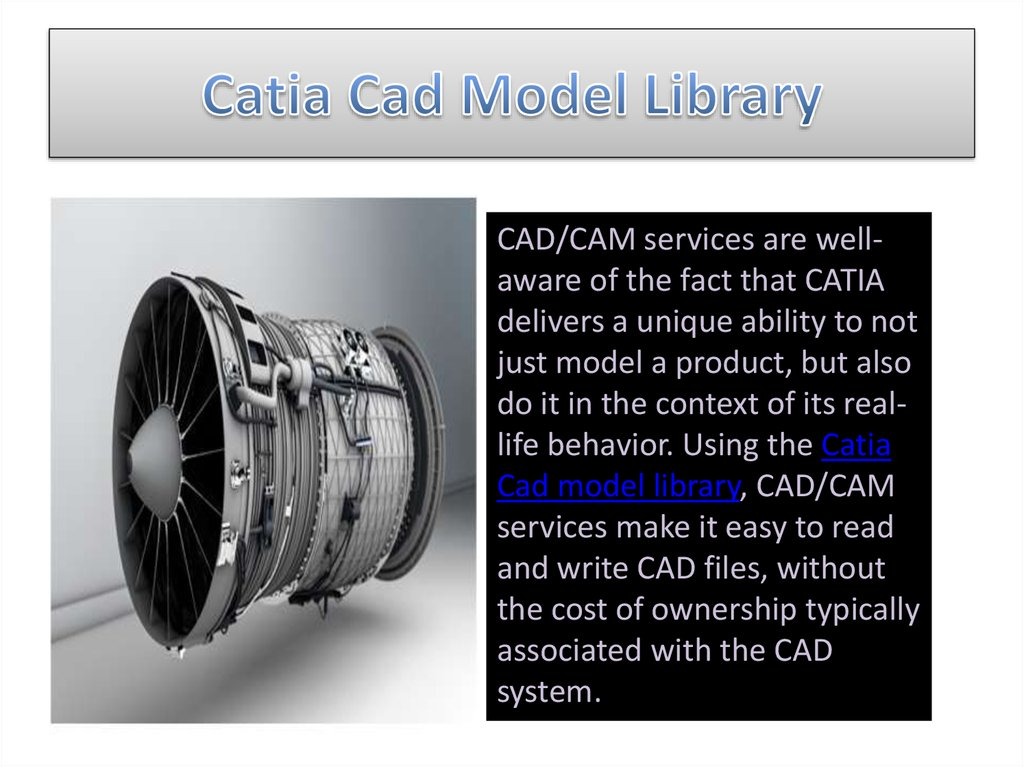 Catia Cad Model Library