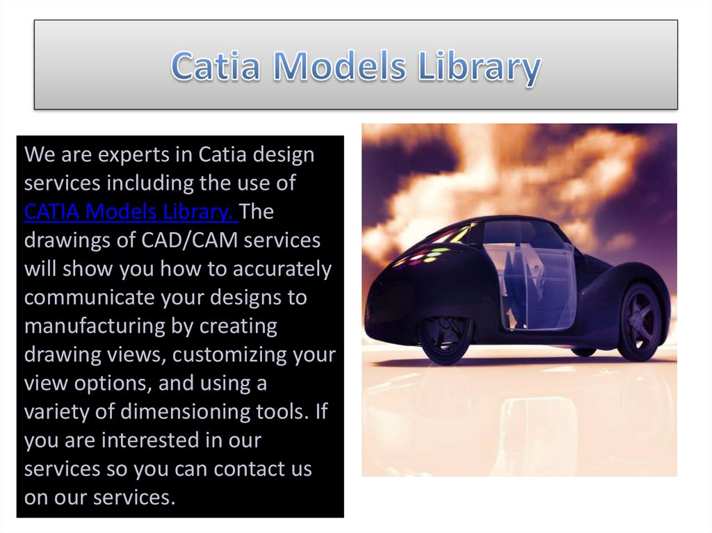 Catia Models Library