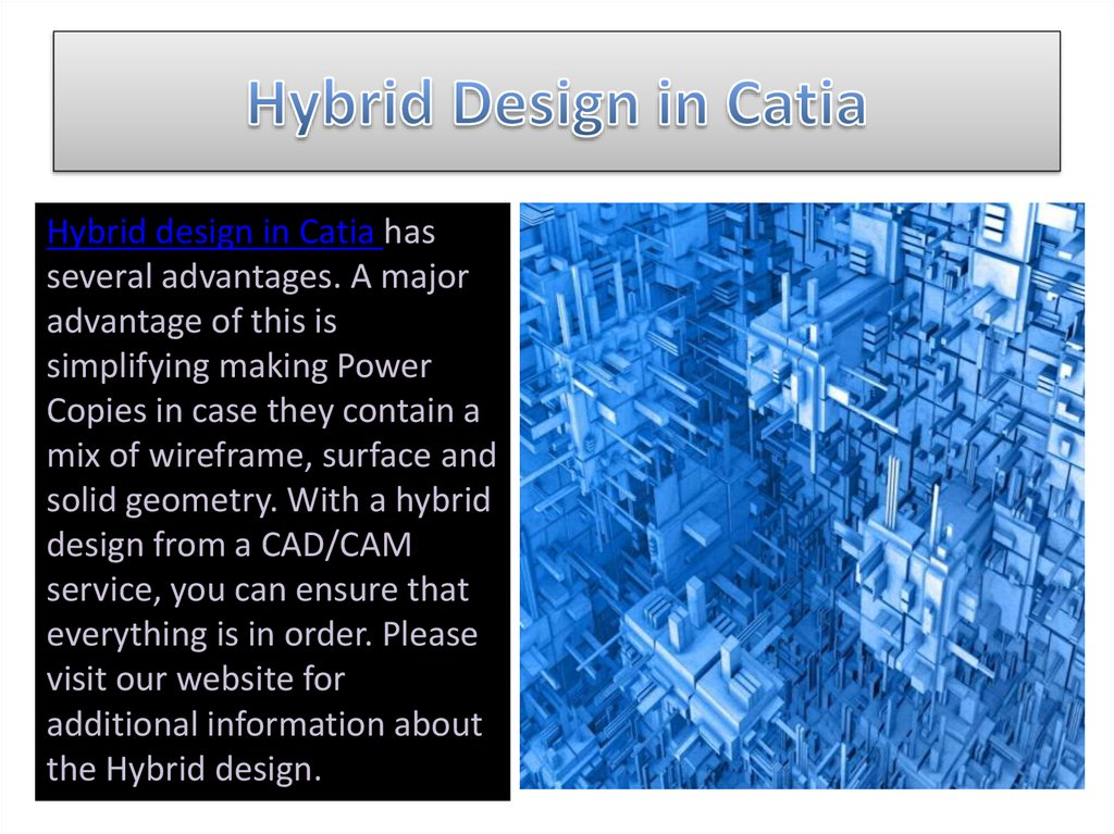 Hybrid Design in Catia