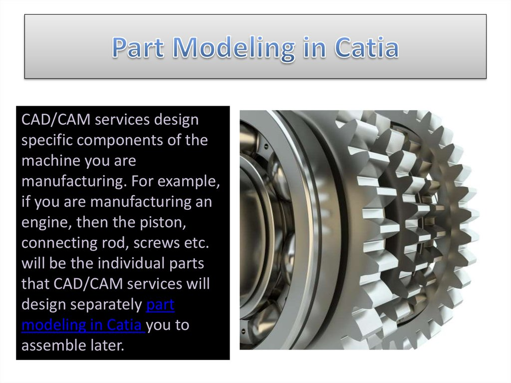 Part Modeling in Catia