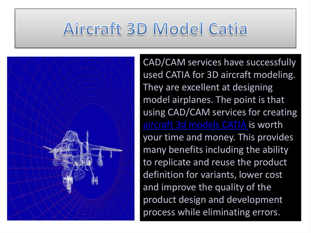 Aircraft 3D Model Catia