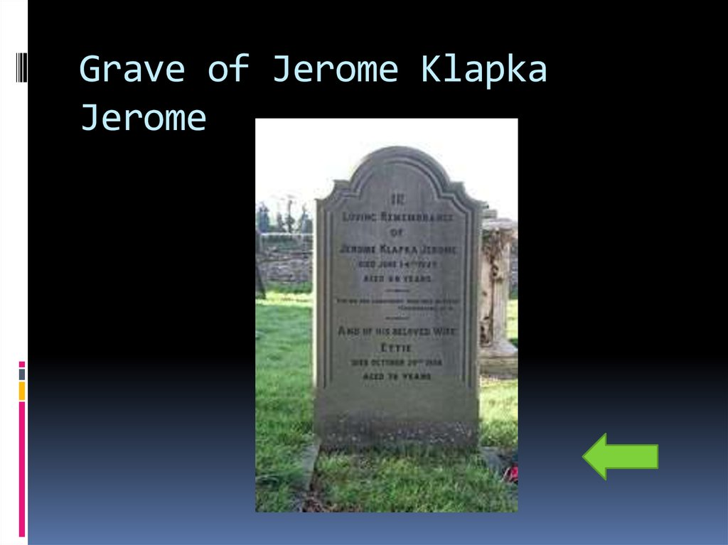 Grave of Jerome Klapka Jerome