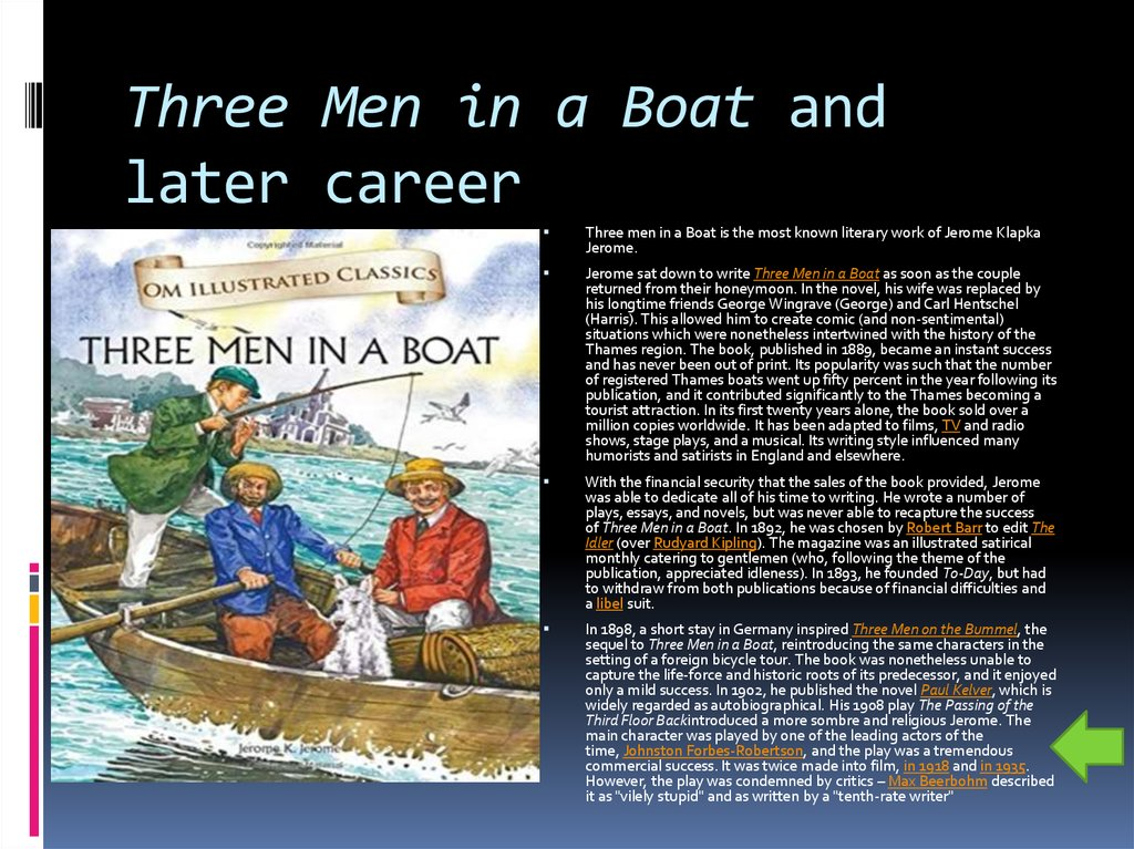 Three Men in a Boat and later career